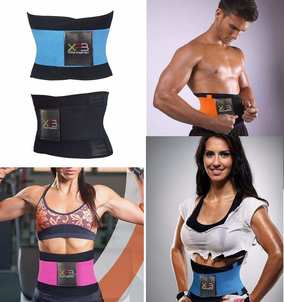 fddd21084f Details about Unisex Sport Xtreme Power Belt Hot Slimming Thermo Shaper  Waist Trainer Faja