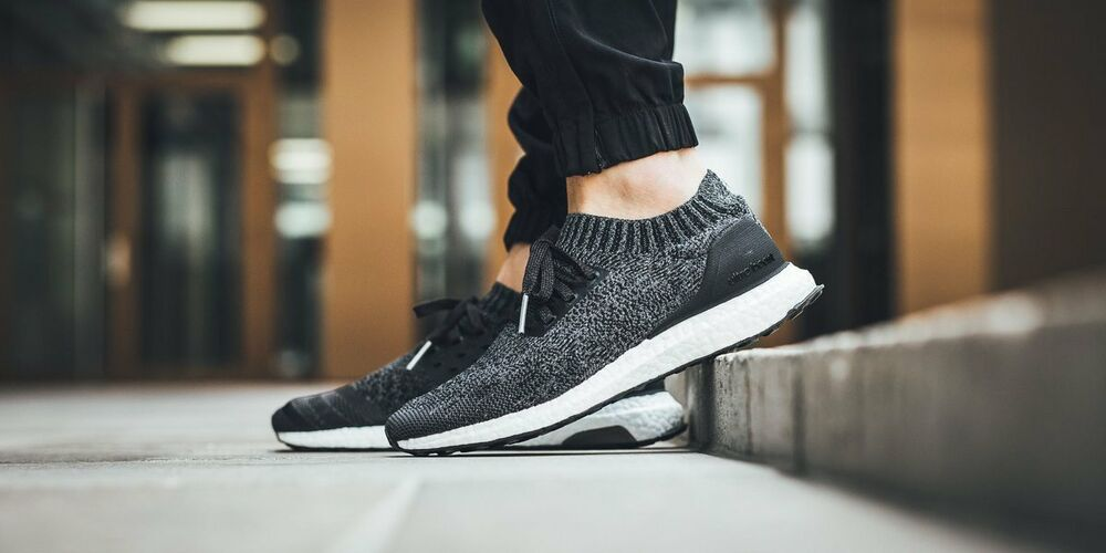 e70b6e614b07c Details about Adidas Ultra Boost Uncaged Black Grey White Size 9. BY2551.  nmd pk primeknit