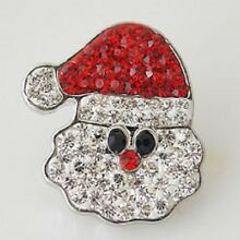 Fits Ginger Snap Ginger SNAPS Rhinestone Santa Magnolia Vine Jewelry 18mm Button