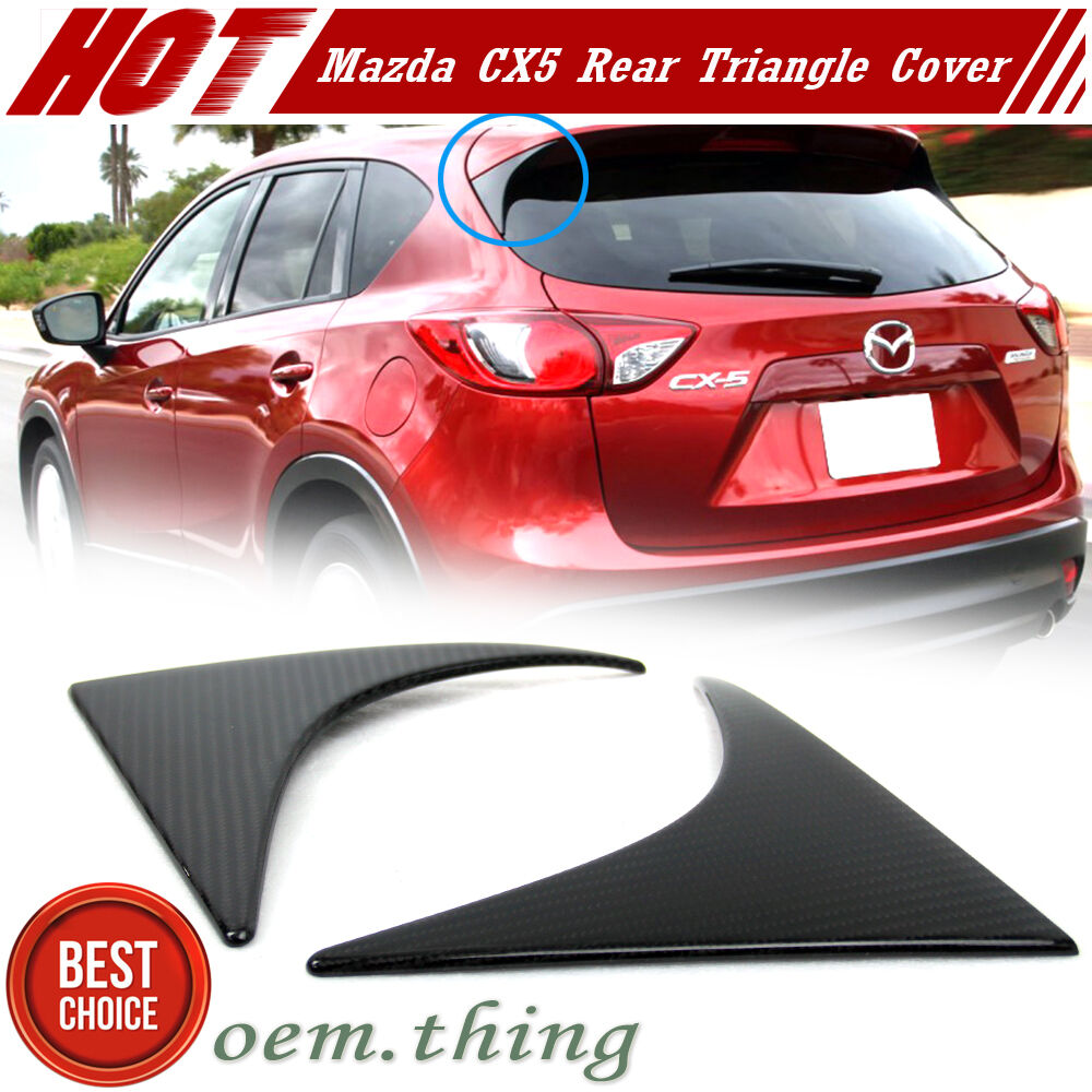 Carbon For Mazda CX-5 SUV Rear Side Spoiler Triangle Cover