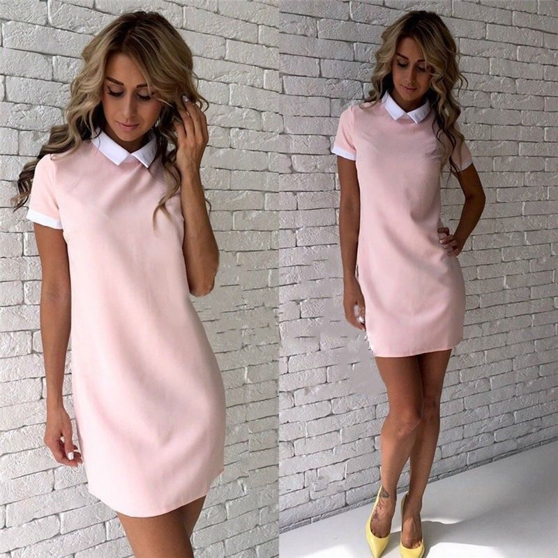 d8cd8bf30e010 Details about Women Short Sleeve Office Bodycon Evening Party Cocktail  Summer Mini Dress Fresh