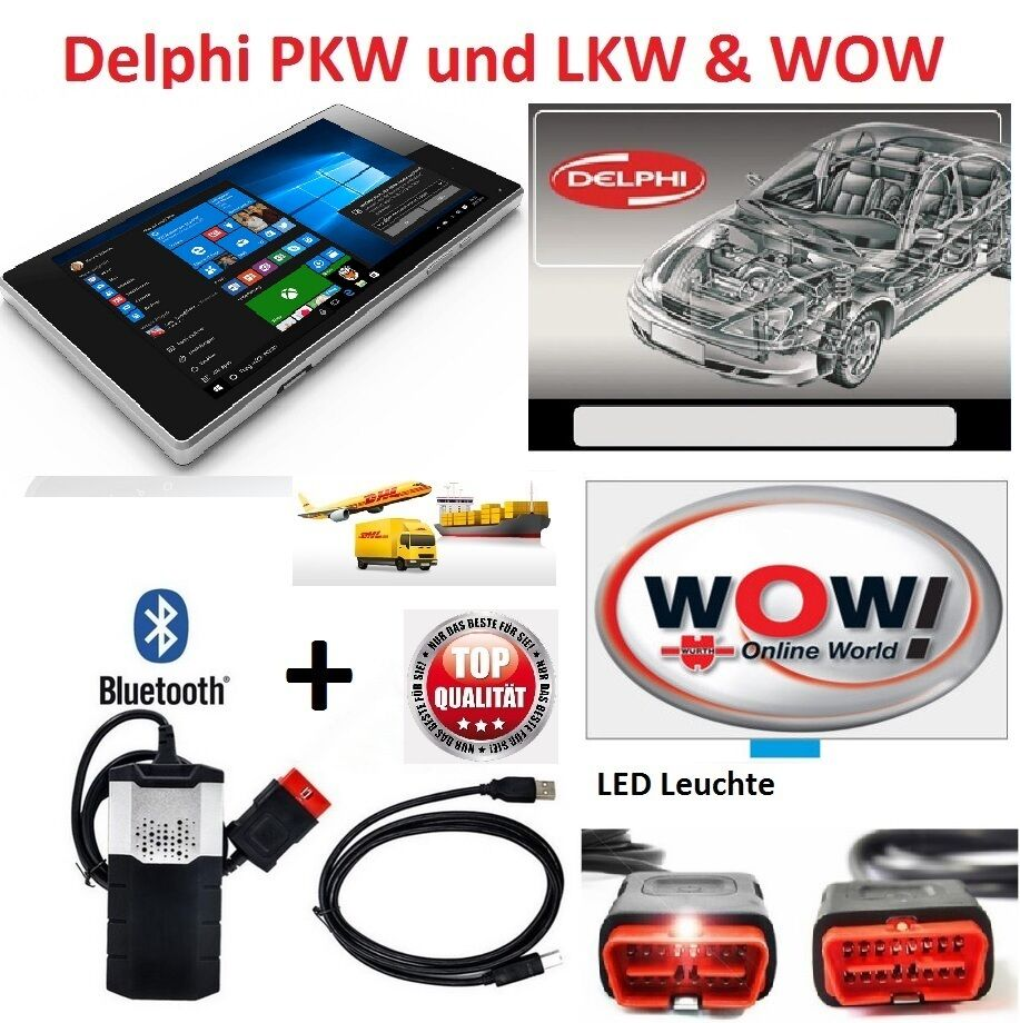 kfz profi diagnoseger t pkw mit wow bluetooth obd2 inkl 8. Black Bedroom Furniture Sets. Home Design Ideas