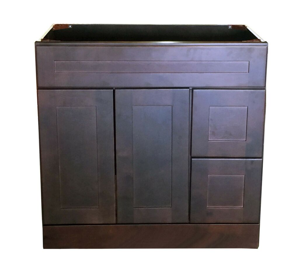 "New Espresso Shaker Single-Sink Bathroom Vanity Base Cabinet 36"" W X 21"" D"