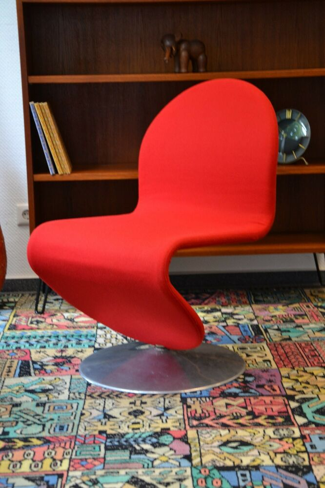 verner panton 1 2 3 chair chaise fritz hansen ebay. Black Bedroom Furniture Sets. Home Design Ideas