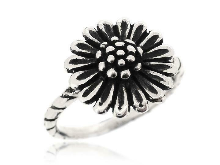 Sovats Womens Nice And Lovely Sunflower Ring 925 Sterling