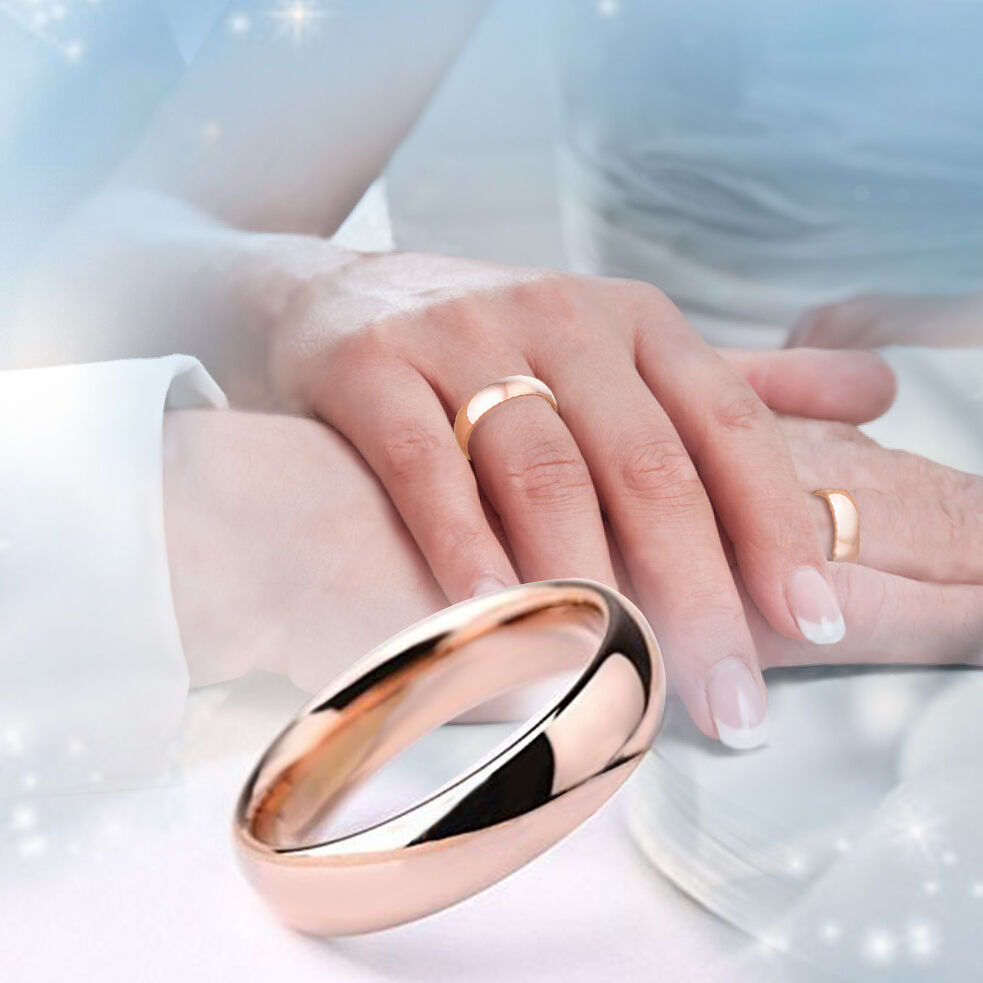 Samie Collection Women\'s Rose Gold Plated Stainless Steel Wedding ...