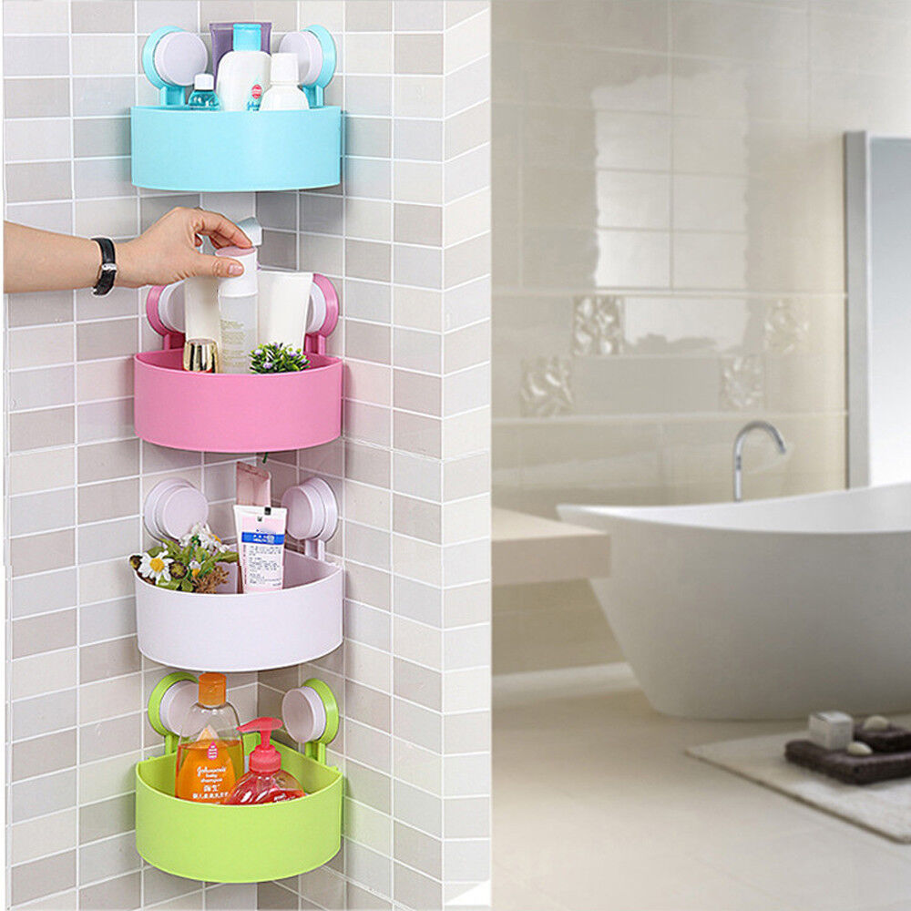 etag re de salle bain coin douche support tablette rangement cuisine plastique ebay. Black Bedroom Furniture Sets. Home Design Ideas