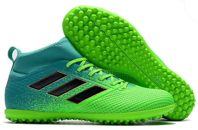 be6f5bac33 Details about Adidas Men Futsal Shoes Soccer Cleats Ace 17.3 Turf TF  Football Green New BB5972