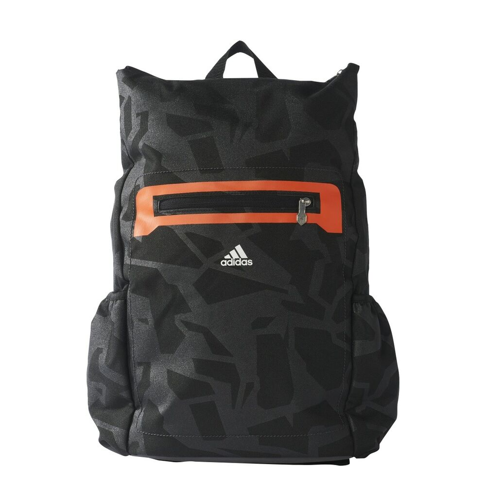 8b58b49b1f Details about Adidas Messi Kids Backpack - Utility Black Energy Orange  BP7883