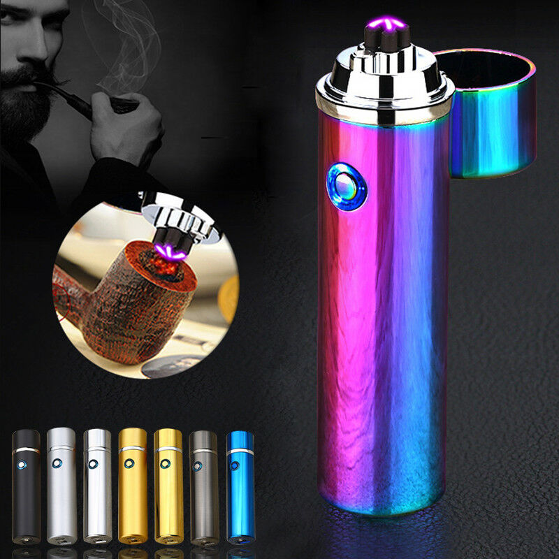 Electric Windproof Flameless Lighter USB Dual Arc Cigarette Plasma Rechargeable | eBay
