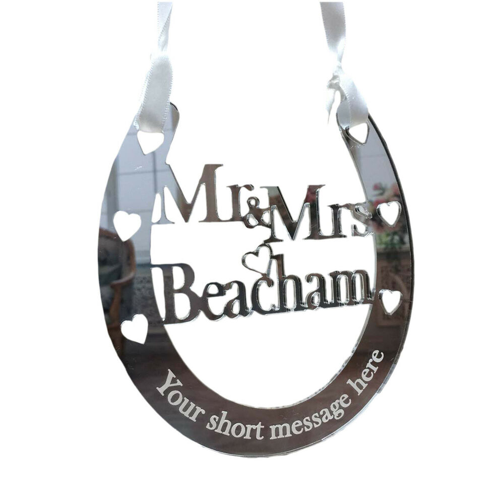 Horseshoe Wedding Gift: Wedding Horseshoe Personalised Mr & Mrs Bridal Gifts Good