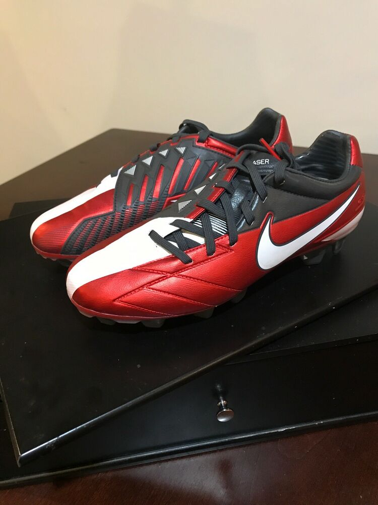 b63423400 Details about Nike T90 Laser IV KL-FG Soccer Cleats black new shoes 472555  610 red