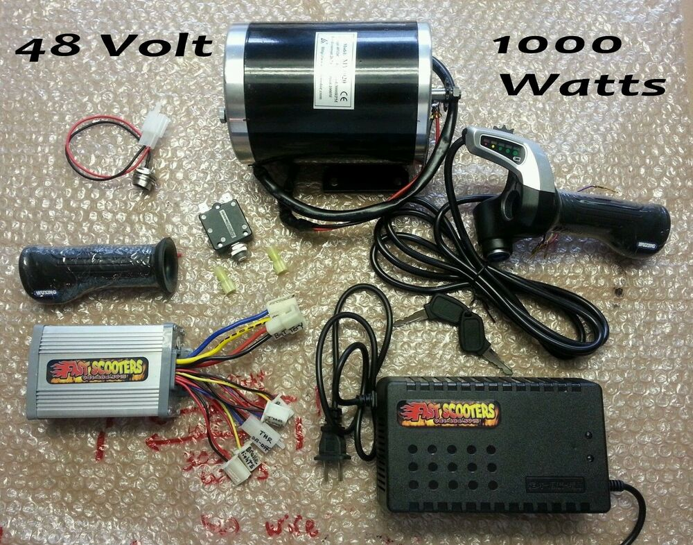 Scooter 48 volt 1000 watt motor controller and throttle for 90 volt dc motor controller
