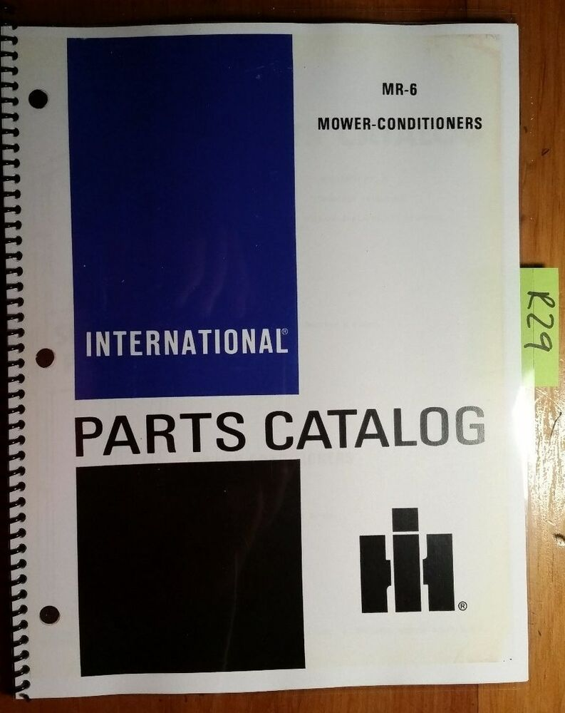 IH International Harvester 1190 1490 1590 Mower-Conditioner Parts Catalog  Manual | eBay
