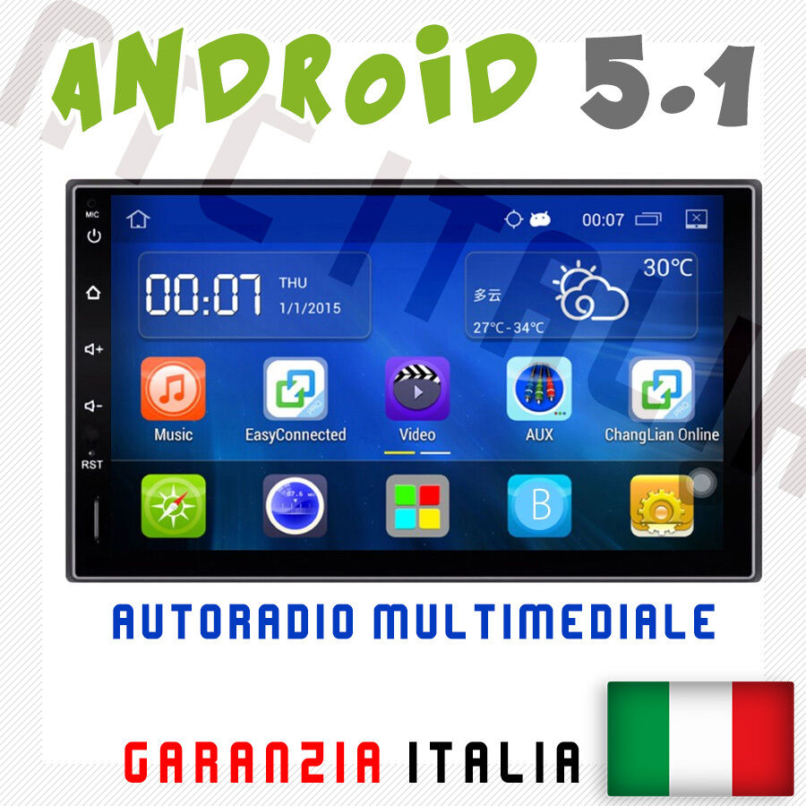 autoradio 2 din android 5 1 universale mp3 wifi aux navigatore gps usb bluetooth ebay. Black Bedroom Furniture Sets. Home Design Ideas