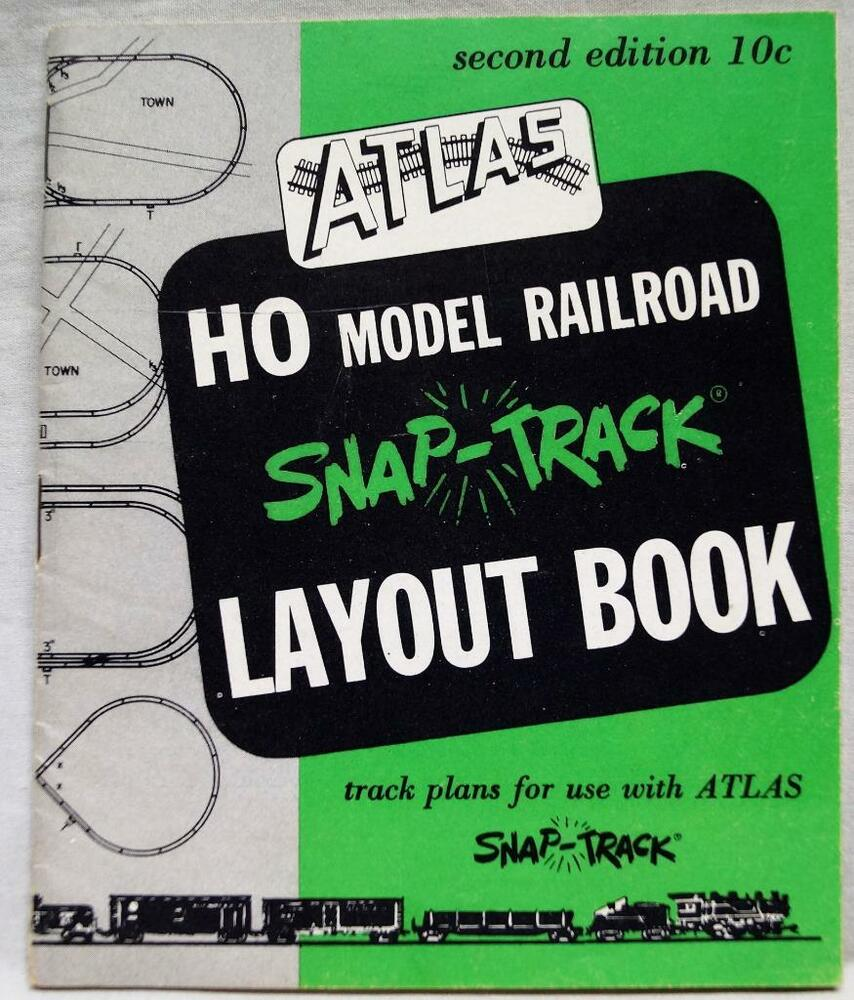 Atlas Ho Model Railroad Snap Track Layout Advertising Brochure 1955 Trains Wiring Train Turntable Vintage Ebay