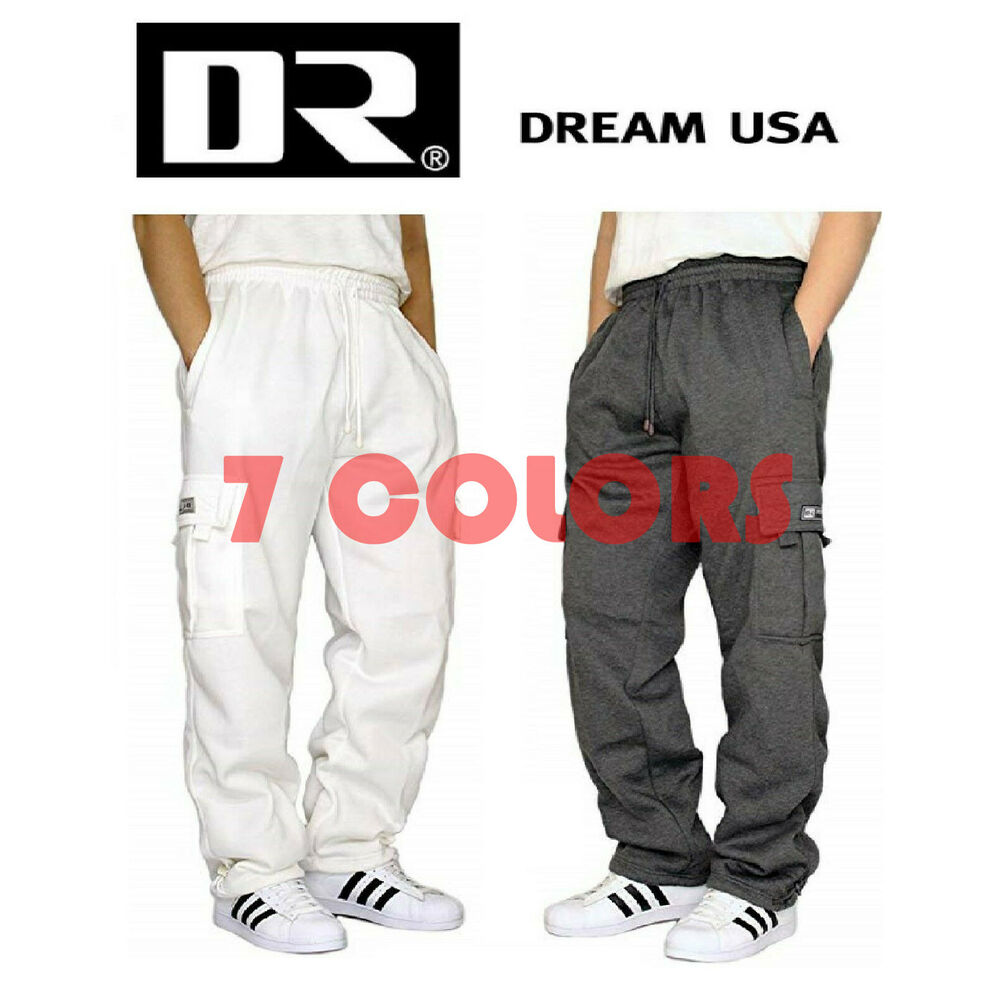 Mens Cargo Pants Sweatpants Truck Fleece Heavy Weight with Elastic Waistband, Fleeced Cargo Pants L-XXL. from $ 22 99 Prime. out of 5 stars PRO 5. Mens Fleece Cargo Sweatpants. from $ 30 99 Prime. out of 5 stars JD Apparel. Mens Fleece Cargo Sweatpants Heavyweight M .