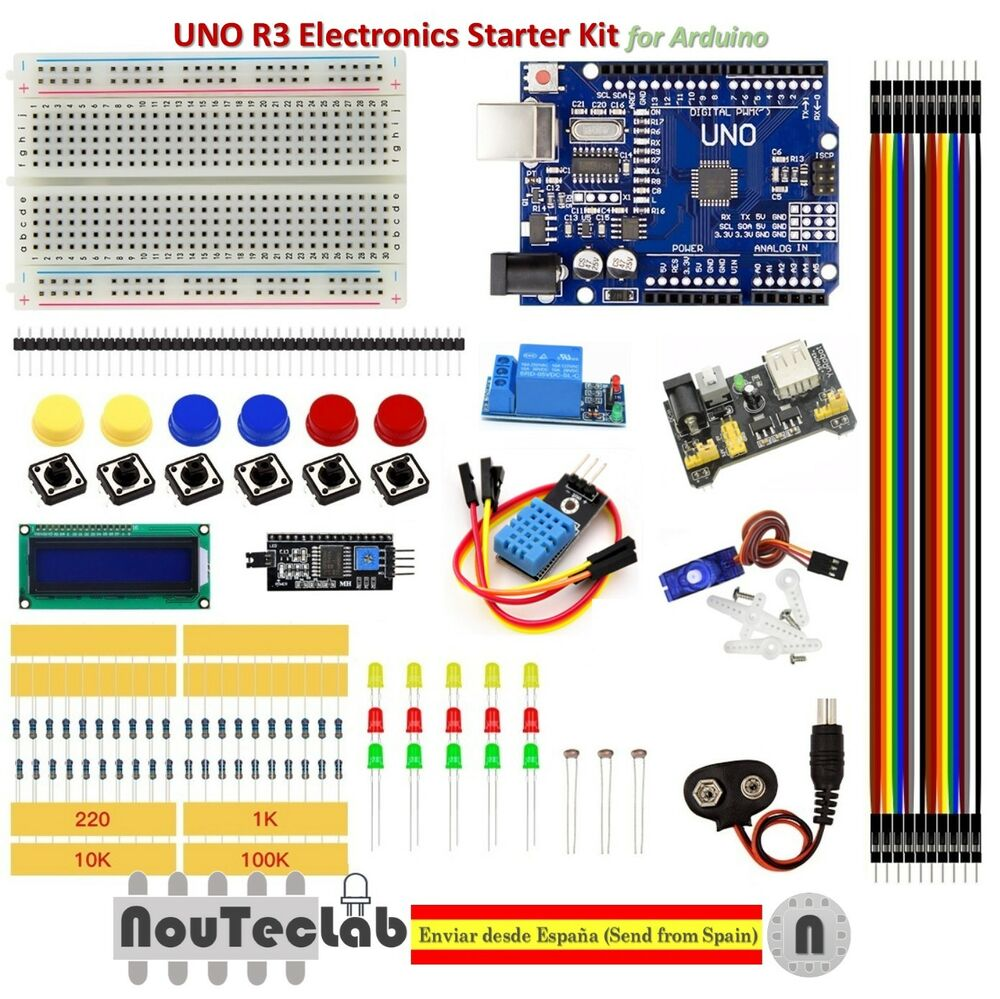 Upgrade starter kit uno r breadboard led lcd sg dht
