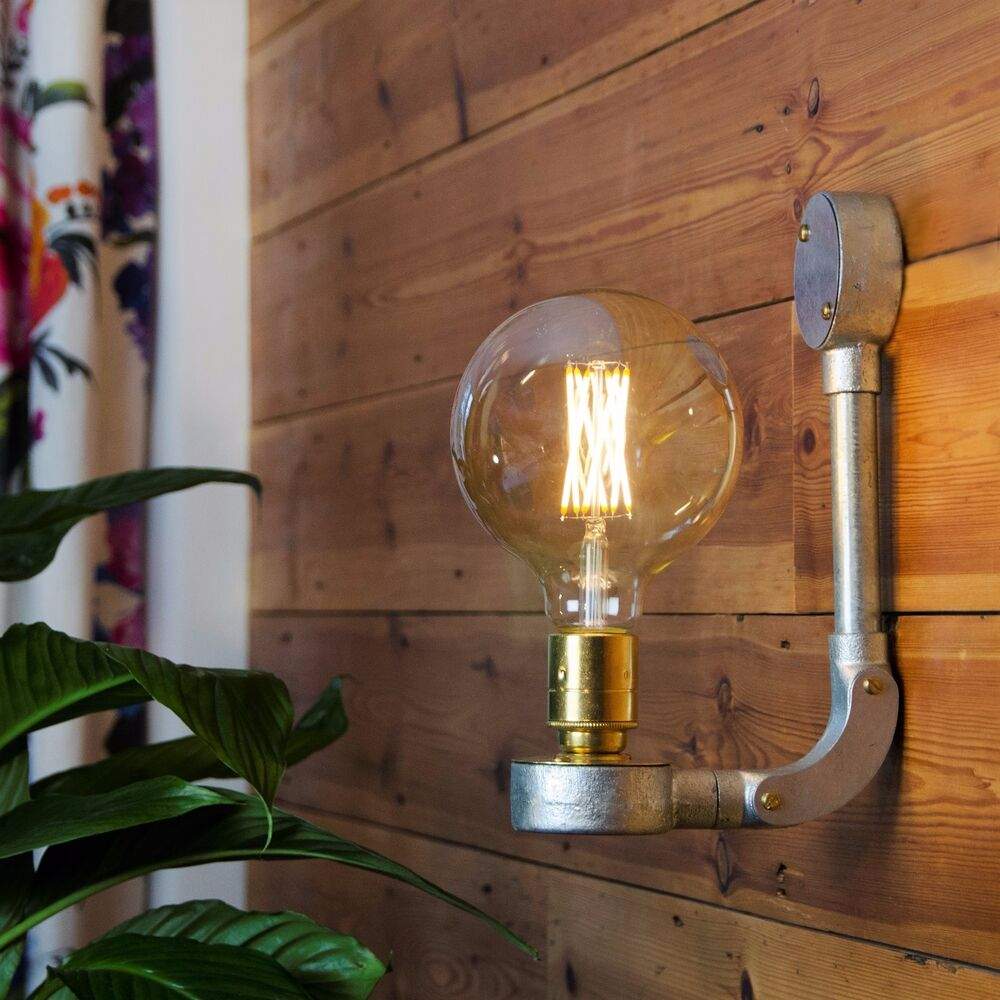 Industrial Vintage Style Wall Light Plus Led Filament
