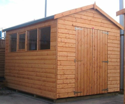 14x8 wooden workshop garage fully t g shed store 14ft x for T g roofing