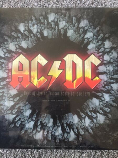 AC/DC 'Best Of Live At Towson State College 1979 - Vinyl Lp - NEW + SEALED