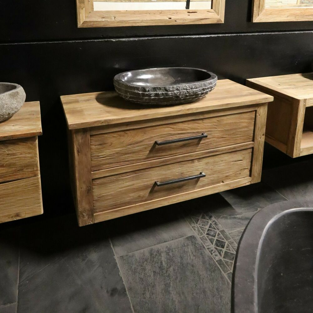 java waschtisch teak badm bel frei h ngend 120 l x 48 t x 58 h ebay. Black Bedroom Furniture Sets. Home Design Ideas