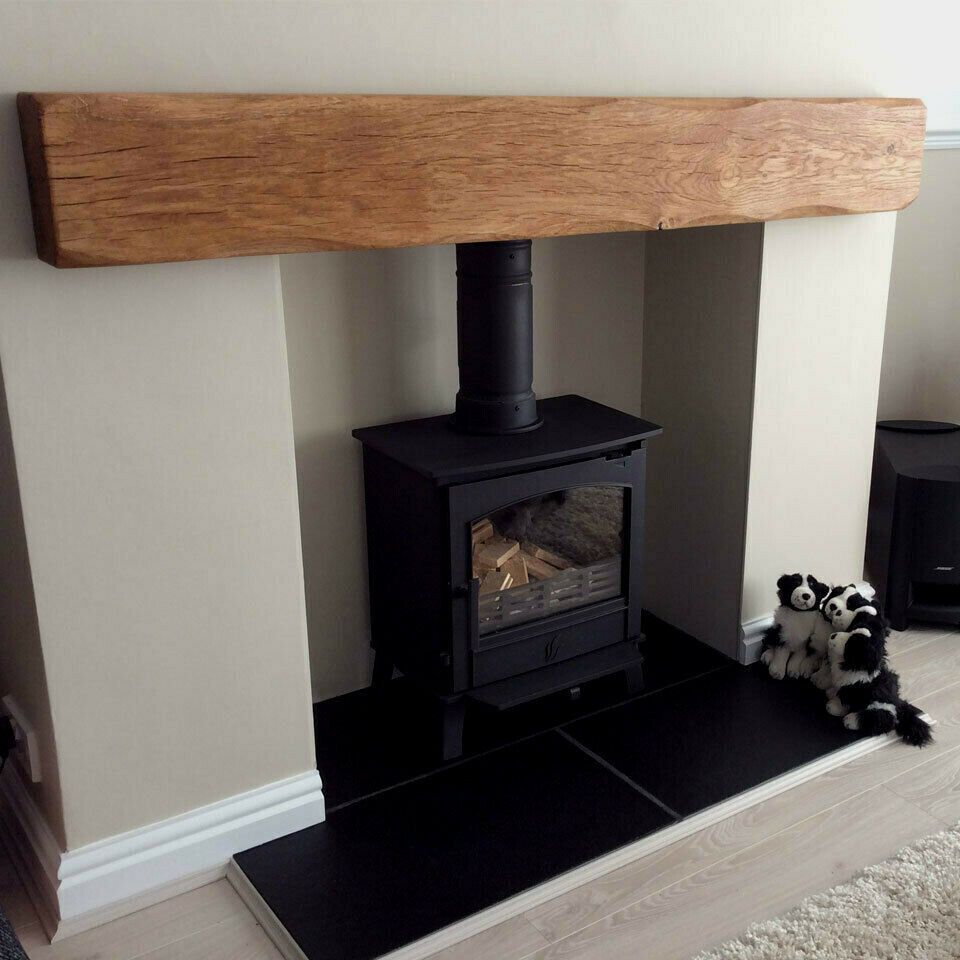 Solid Oak Beam Floating Shelf Mantle Piece Fire Place