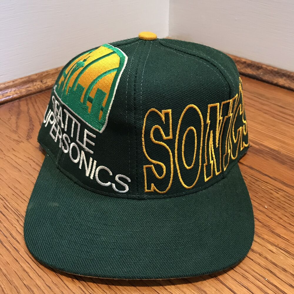 Details about Vintage Seattle Supersonics Snapback Hat NBA Basketball RARE  The Game Sonics 0c4fffbe782