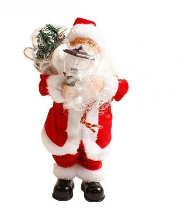 grade fiberglass claus with decor commercial santa christmas decoration presents decorations standing