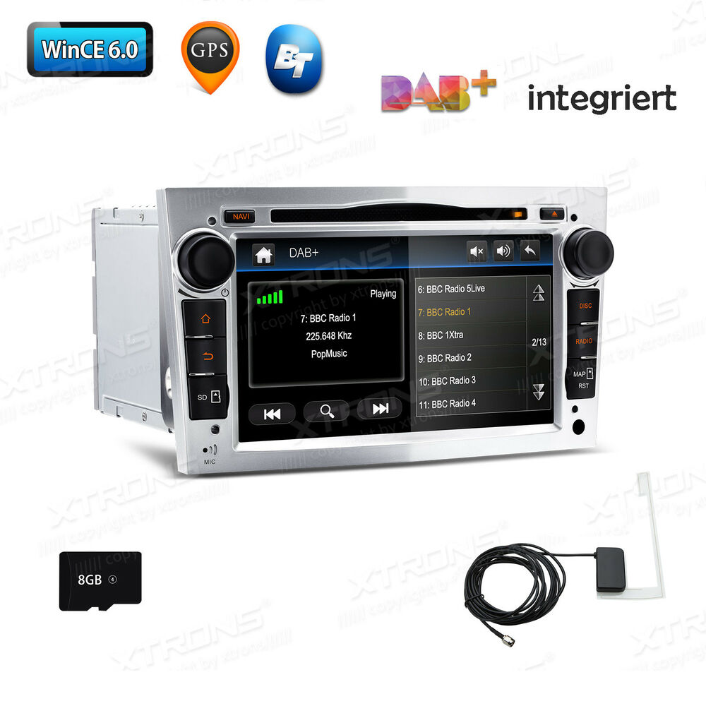 silber autoradio dab navi gps dvd f r opel astra h corsa. Black Bedroom Furniture Sets. Home Design Ideas