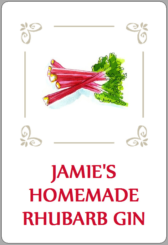 8 homemade rhubarb gin labels vodka wine stickers cordial personalised gifts ebay
