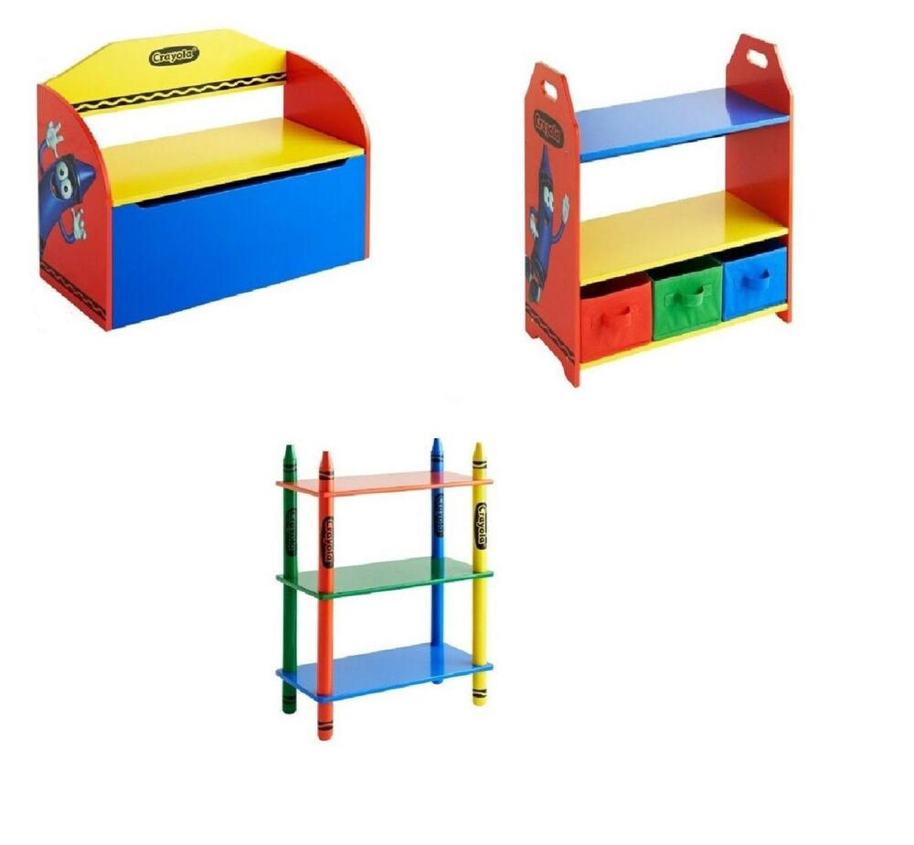 New Crayola Kids Furniture 3 Shelf Bookcase 3 Tub Shelving Kids  # Muebles Ponderosa