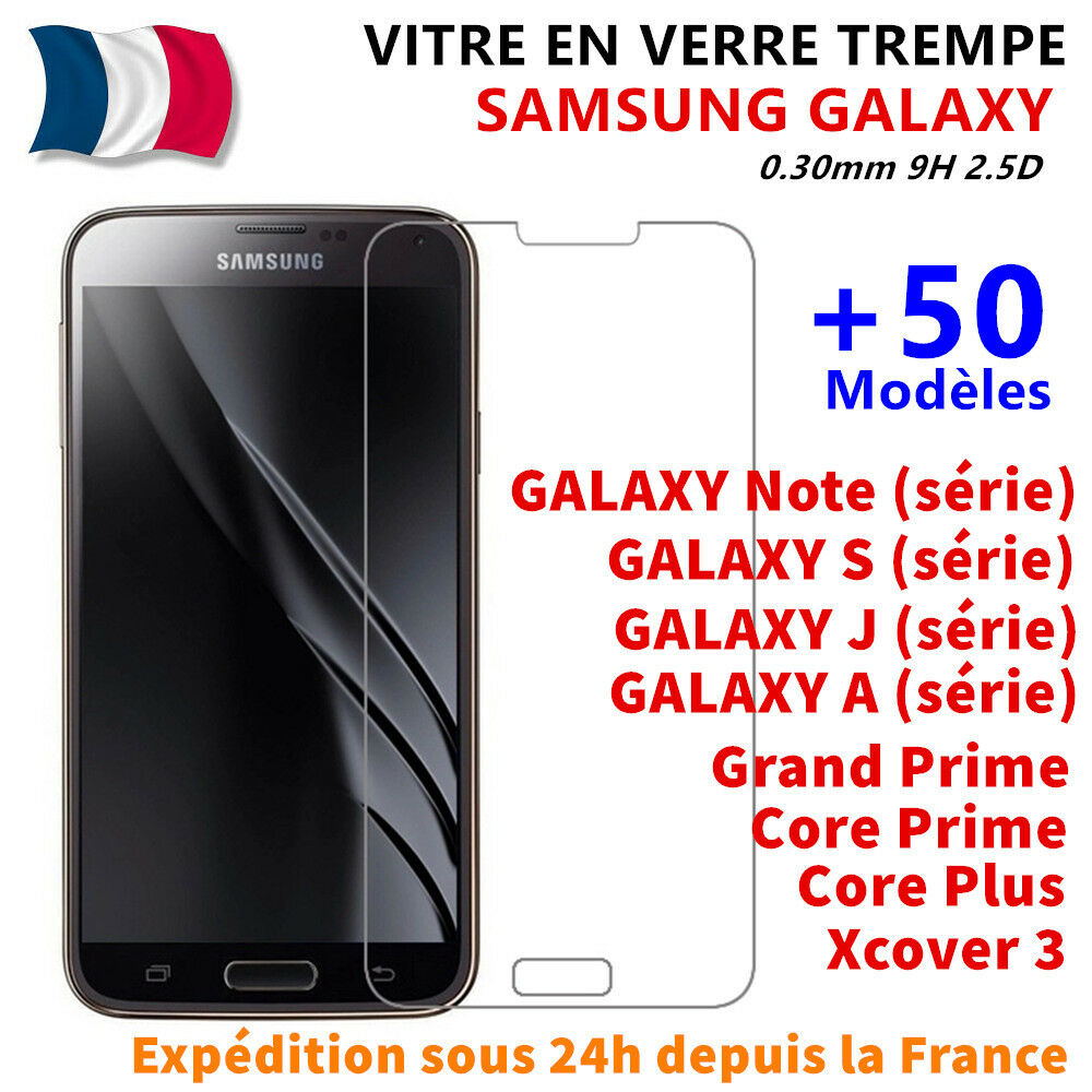 vitre film protection verre tremp samsung galaxy s5 s6 a3 a5 a6 j3 j5 j6 plus ebay. Black Bedroom Furniture Sets. Home Design Ideas