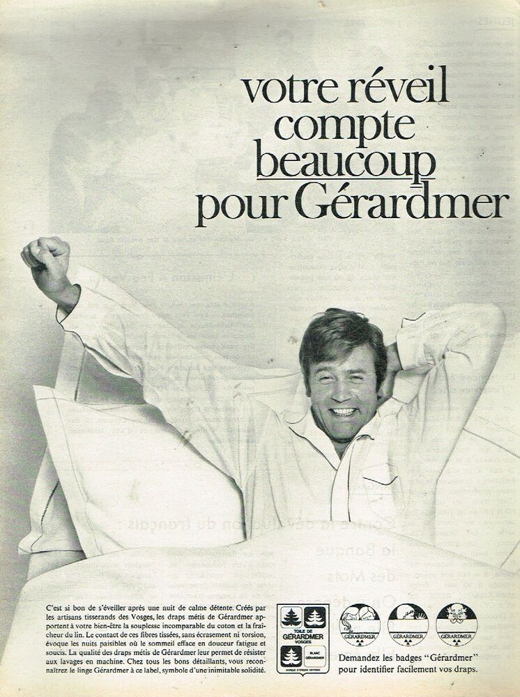 L Other Breweriana Publicité Advertising 1968 Linge De Maison Draps Agalys