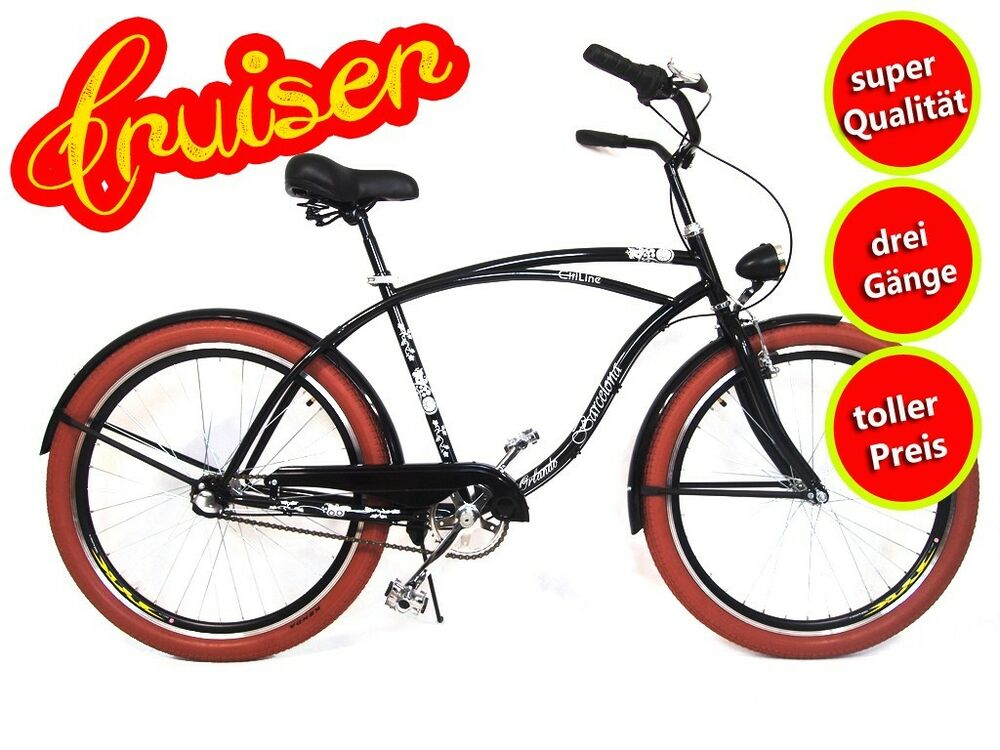 26 zoll herren fahrrad beachcruiser citybike cityrad. Black Bedroom Furniture Sets. Home Design Ideas