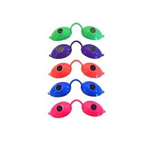 Super Sunnies Neon Tanning Bed Goggles Eye Protection UV Glasses