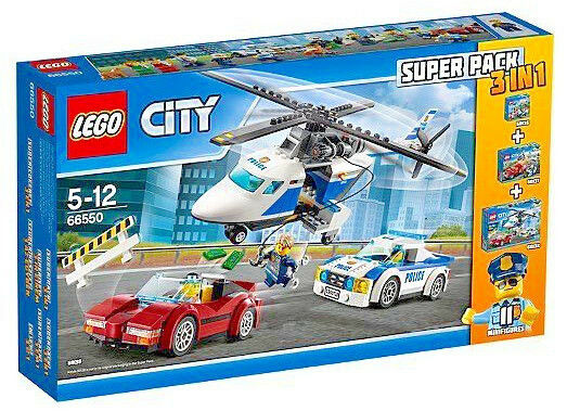 lego city 66550 police value pack police super pack 3 in 1 ebay. Black Bedroom Furniture Sets. Home Design Ideas