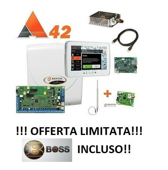 KIT ANTIFURTO CENTRALE BENTEL ABSOLUTA 42 ABS 42 + TASTIERA M-TOUCH + GSM + IP