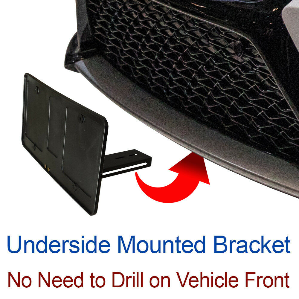 Audi A4 License Plate Frame: LICENSE PLATE BRACKET Tag Holder Hidden Sto Mounting Holes