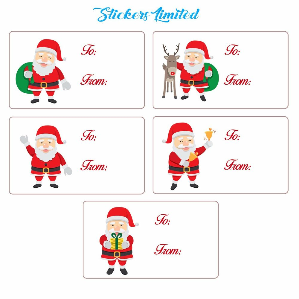 To And From Christmas Labels, Self Adhesive Tags Present