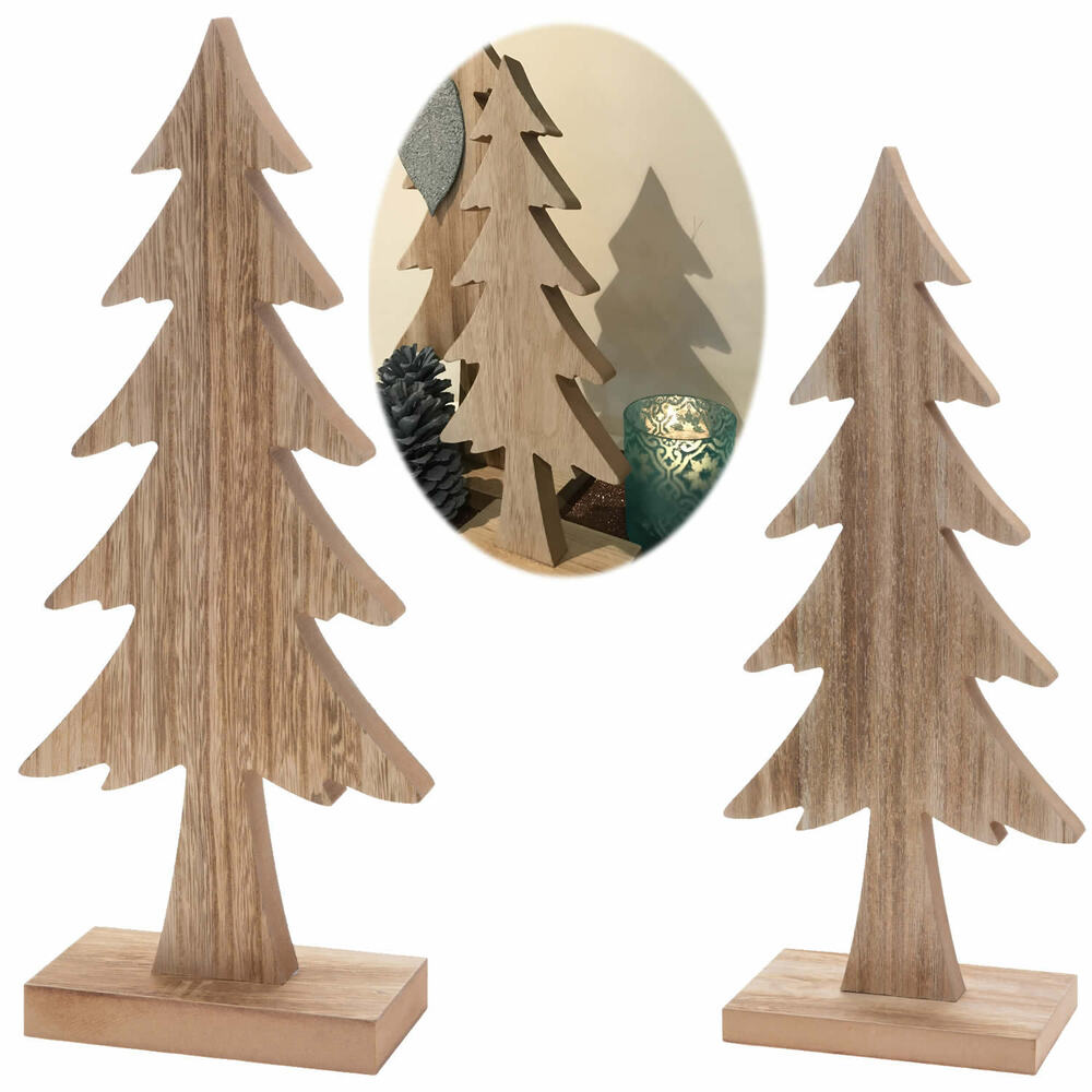 holz weihnachtsbaum tannenbaum dekoration holzbaum baum deko dekoration x mas ebay. Black Bedroom Furniture Sets. Home Design Ideas