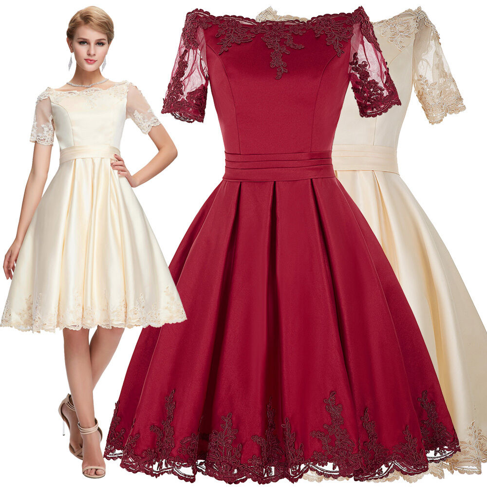 1950 S Vintage Style Evening Dress Party Wedding Swing