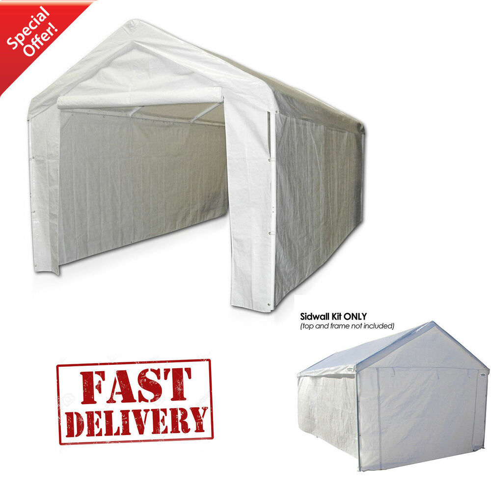 Garage Canopy Side Wall Kit ONLY 10 x 20 Tent Portable ...