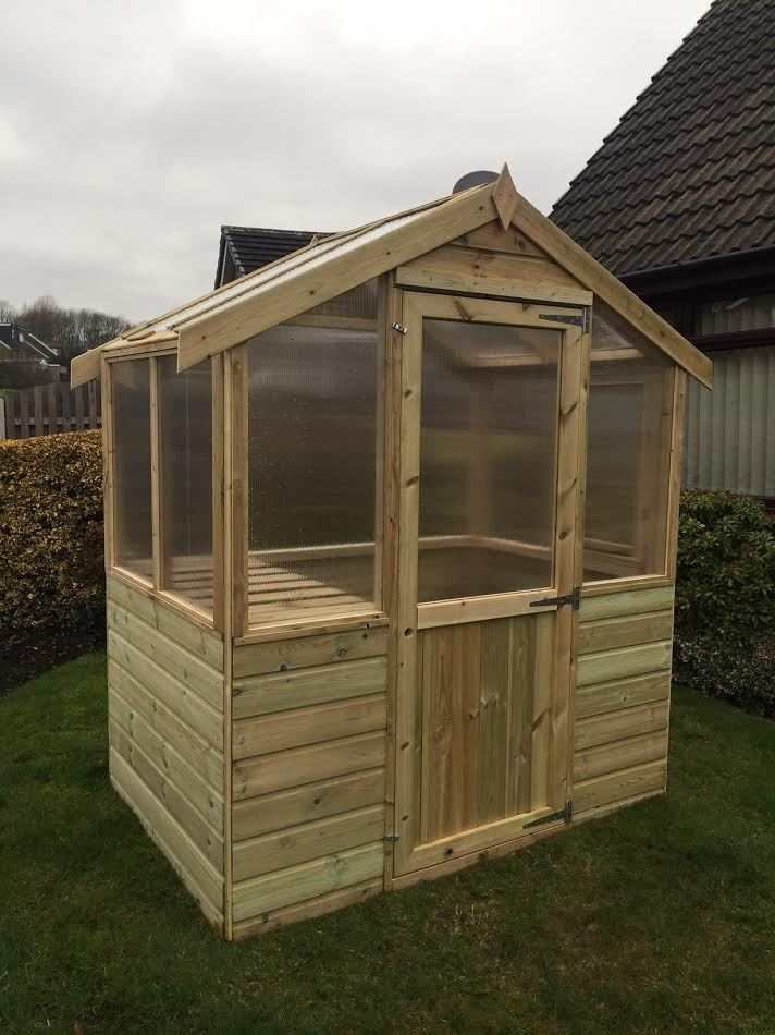 4x6 Wooden Greenhouse Frame Only Pressure Treated 4ft X