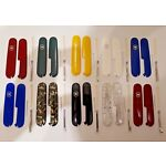 SWISS ARMY KNIFE VICTORINOX 91mm SCALES/HANDLES+TOOTHPICK+TWEEZERS+PIN