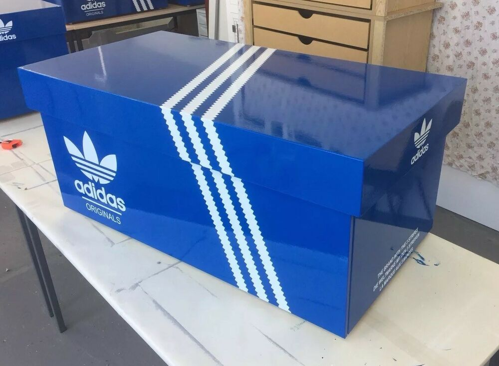 Giant Shoe Box Trainer Sneaker Shoe Storage Chest Adidas