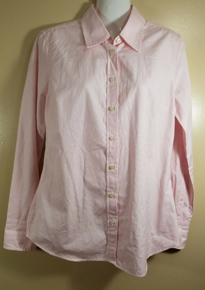 Details about J.Crew Women Long Sleeve Button Front Shirt Striped Pink Size  Small Career Work 0636c55feb