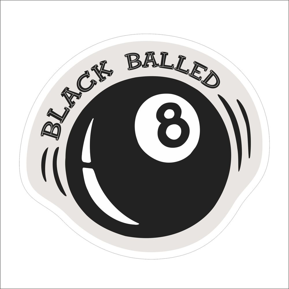 Details about black balled funny vinyl danger motorcycle car window hard hat sticker decal