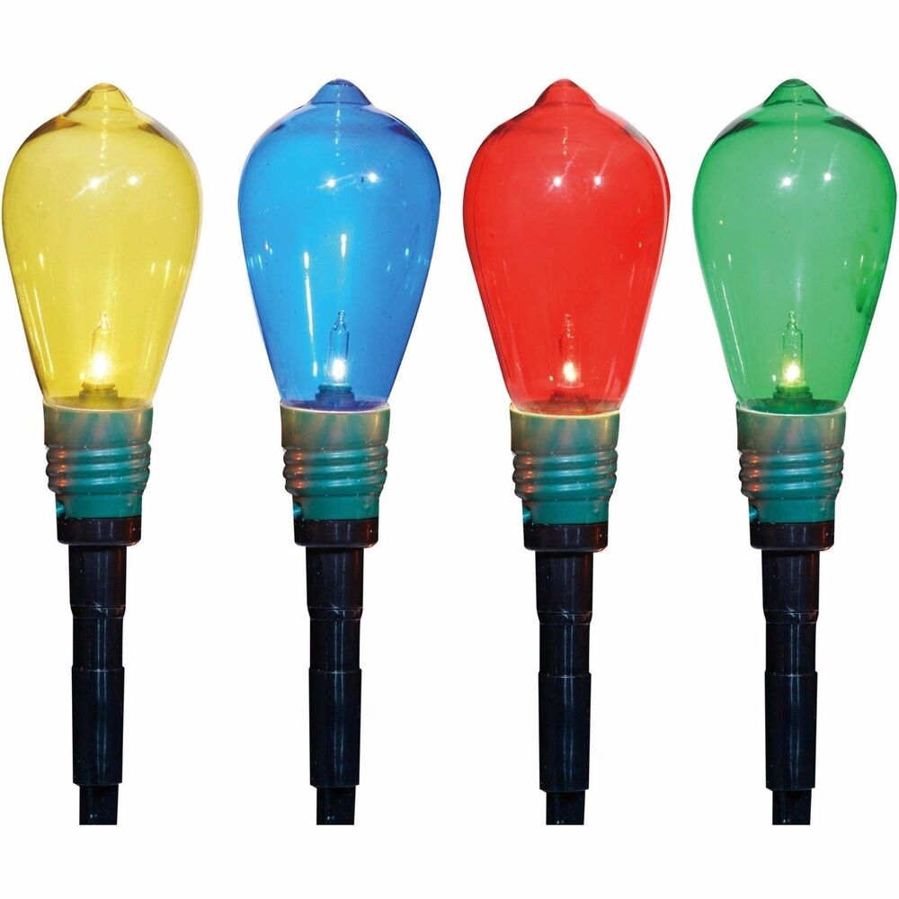 Edison Bulb Lawn Pathway Stakes Christmas Markers Lights ...