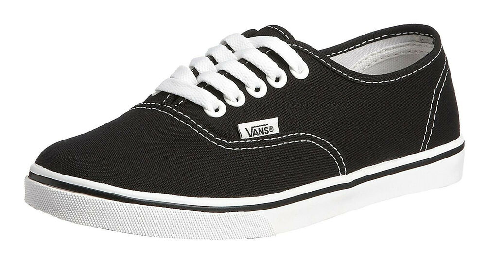 14b6ff00fd8778 Details about Vans Authentic Classic Lo Pro Black White Womens Sneakers  Tennis Shoes